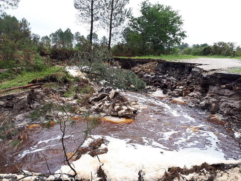 Dégâts inondation 12 mai 2020 ruisseaux et étangs
